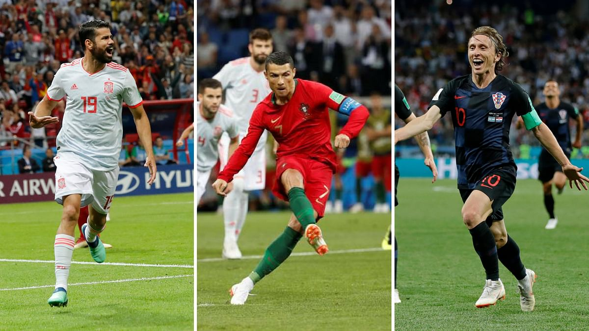 (from left to right) Diego Costa (Spain), Ronaldo (Portugal) and Luka Modric (Croatia) have actually steered their teams to vital wins in the competition