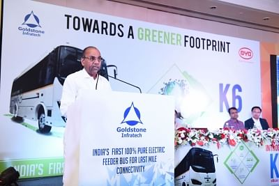 New Delhi: Union Heavy Industries Minister Anant Geete addresses at the launch of India