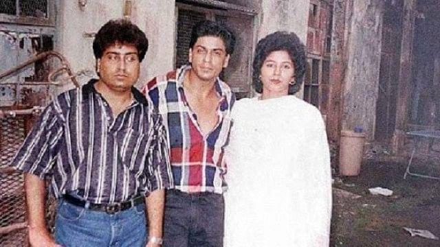 SRK with his cousin Noor Jehan.