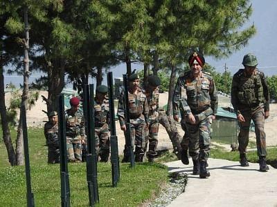 Srinagar: General Officer Commanding-in-Chief of the Northern Command Lieutenant General Ranbir Singh arrives in Srinagar on June 4, 2018. (Photo: IANS)