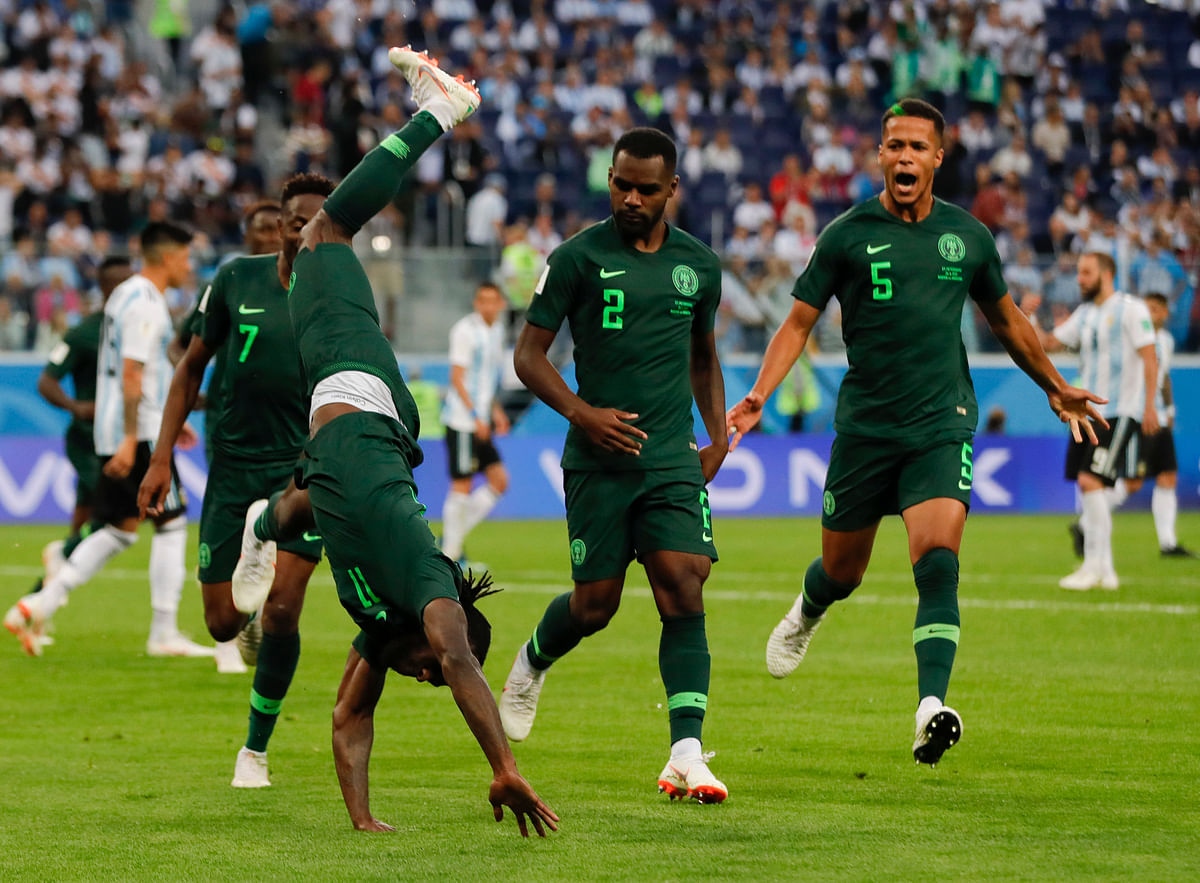 Nigeria were sure of qualifying till the 86th minute goal from Argentina's Marcus Rojo