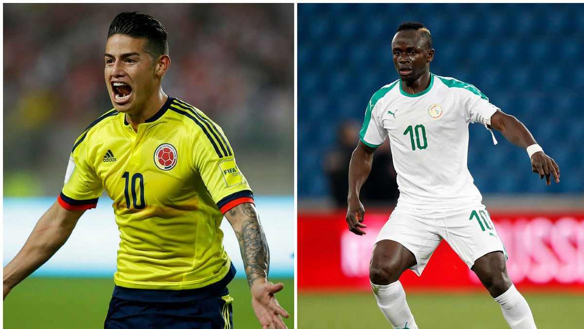 James Rodriguez had a stellar game against Poland, and Sadio Mane is going from strength to strength this World Cup