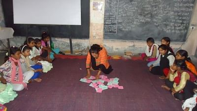 A class being conducted at the school.