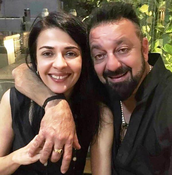Namrata with Sanjay Dutt.