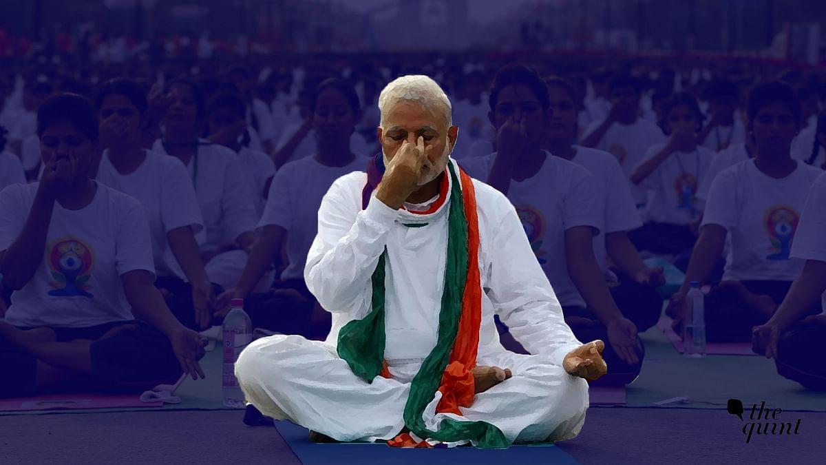 Prime Minister Narendra Modi on the eve of International Yoga Day on 21 June, 2017.