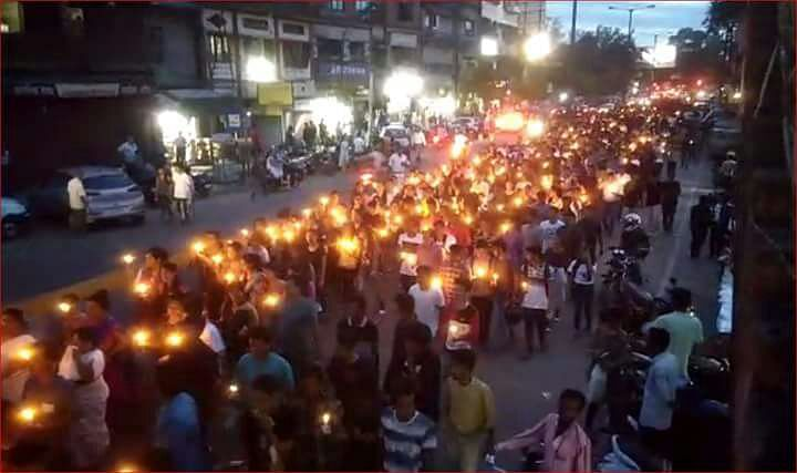 Protestors gathered in the city's Chandmari area and shouted slogans demanding the resignation of Assam CM Sarbananda Sonowal, Scroll reported.