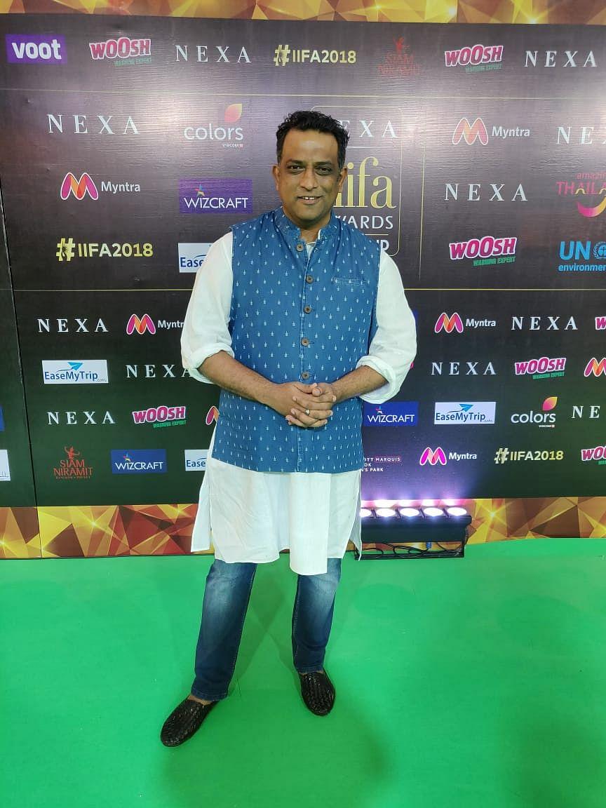 Anurag Basu on IIFA 2018 green carpet in Bangkok