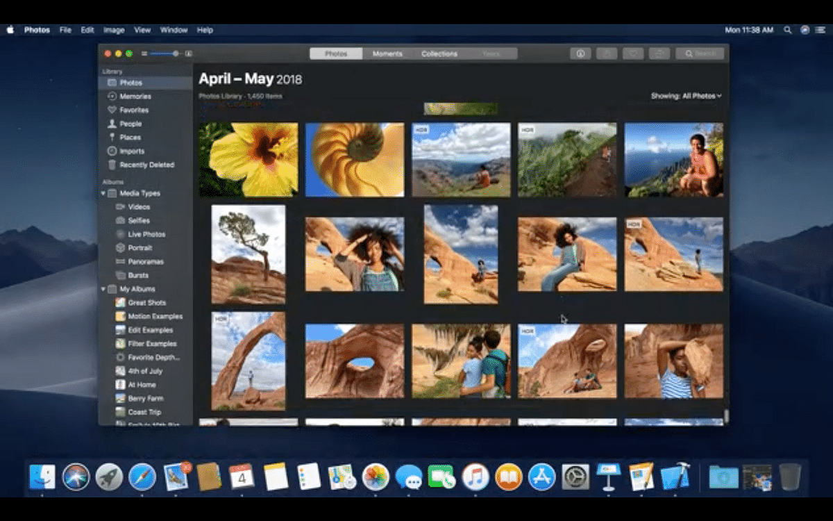 The MacOs targets for a cleaner desktop experience