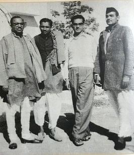Atal Bihari Vajpayee with Deen Dayal Upadhyaya during his time with the Jana Sangh.