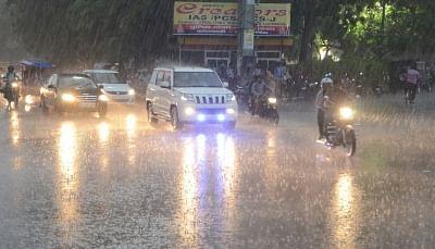 Lucknow: Rains lash Lucknow on June 26, 2018. (Photo: IANS)