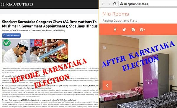 Webqoof: Fake News Websites Active During Karnataka Polls Vanish