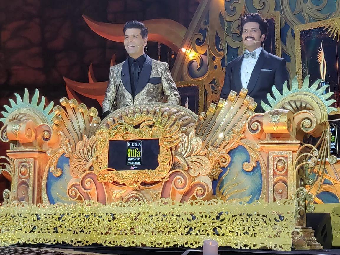 Karan Johar and Riteish Deshmukh lets the show begin as they host IIFA 2018 in Bangkok.