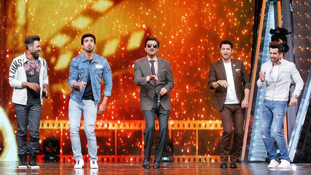 Remo D'Souza, Saqib Saleem, Anil Kapoor promote <i>Race 3.</i>