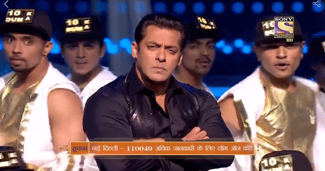 Salman Khan making a song and dance of <i>Dus Ka Dum.</i>