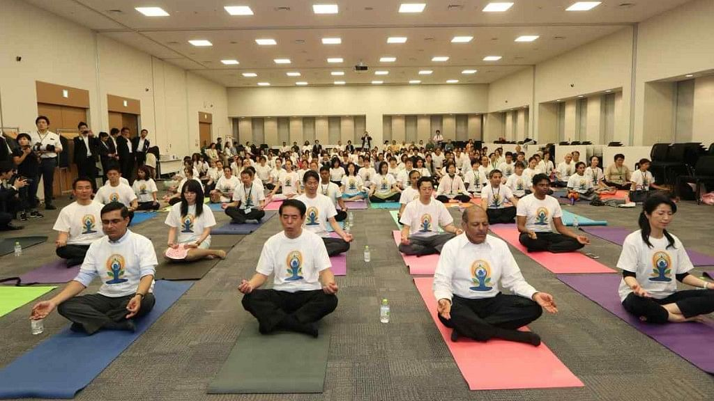 Indian Embassy in Japan marks International Day of Yoga.