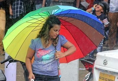 Bengaluru: Rains lash Bengaluru on Jun 3, 2018. (Photo: IANS)