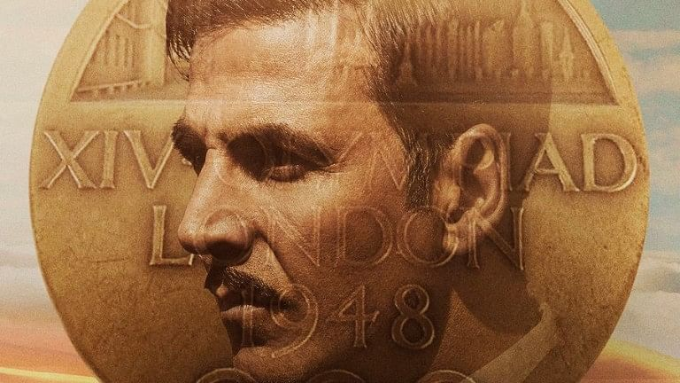 Akshay Kumar in a poster of <i>Gold</i>.