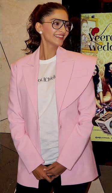 Sonam Ahuja was seen promoting <i>Veere Di Wedding.</i>