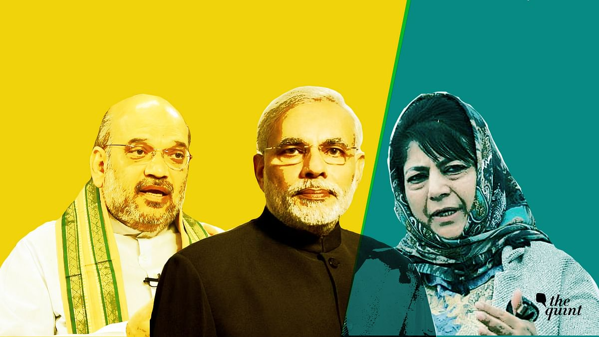 The BJP pulled out from an alliance with PDP in Jammu and Kashmir on 19 June.