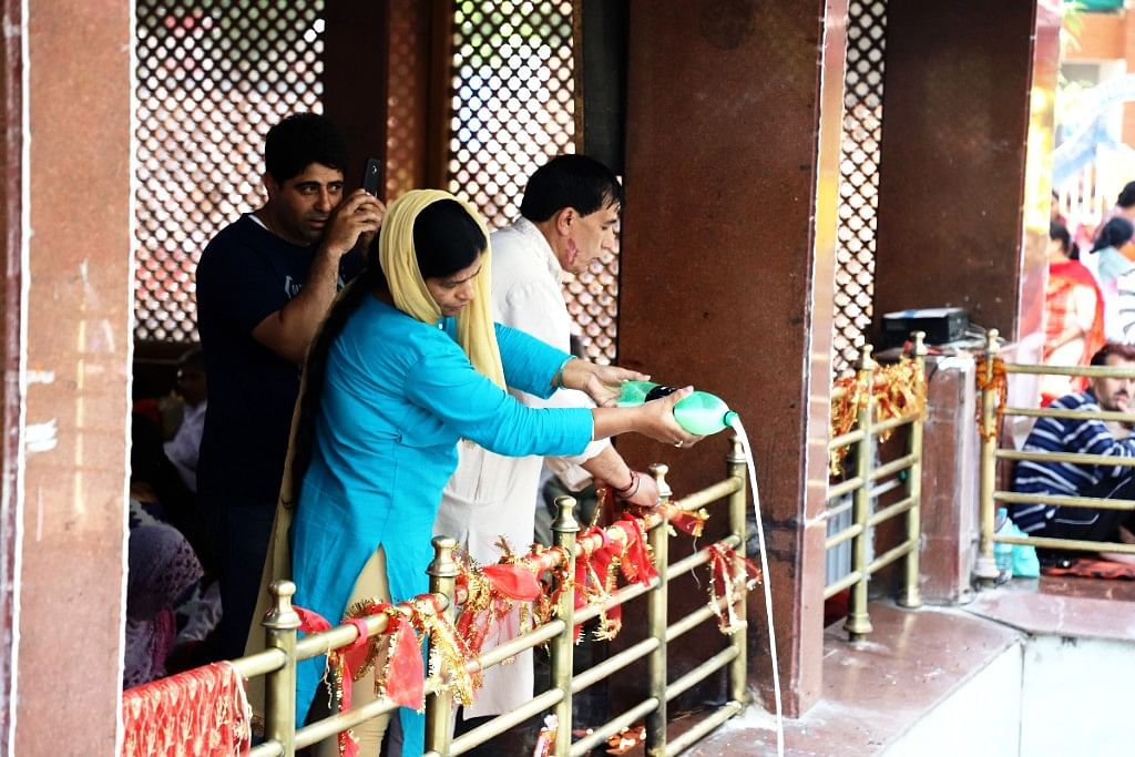 The temple is also called Kheer Bhawani because devotees offer kheer and milk to the Goddess Rangya Devi.