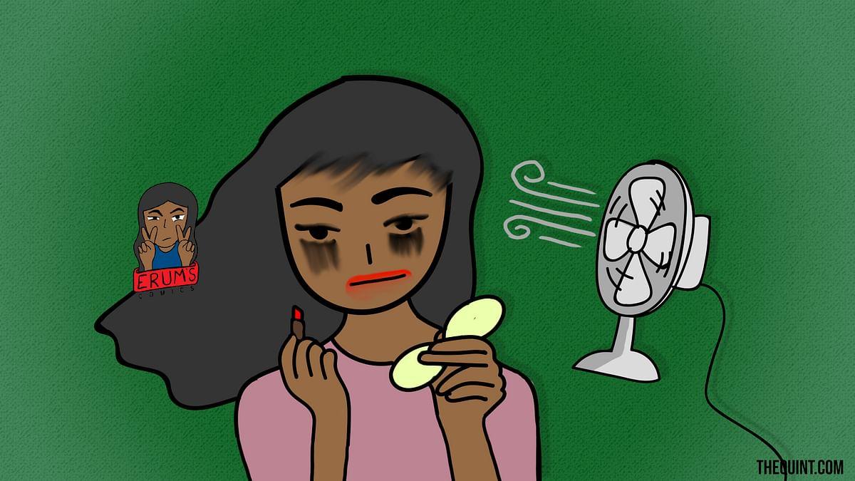 Erum's Comics: My Make-Up Look in Delhi Ki Garmi