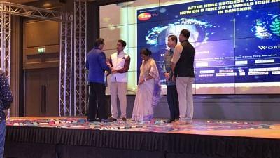 Bangkok: Jagadguru Kripalu Parishat (JKP), which works to educate underprivileged girls in Uttar Pradesh Pratapgarh district, has been honoured with the 'World Icon Award 2018 in Bangkok, Thailand. (Photo: IANS)