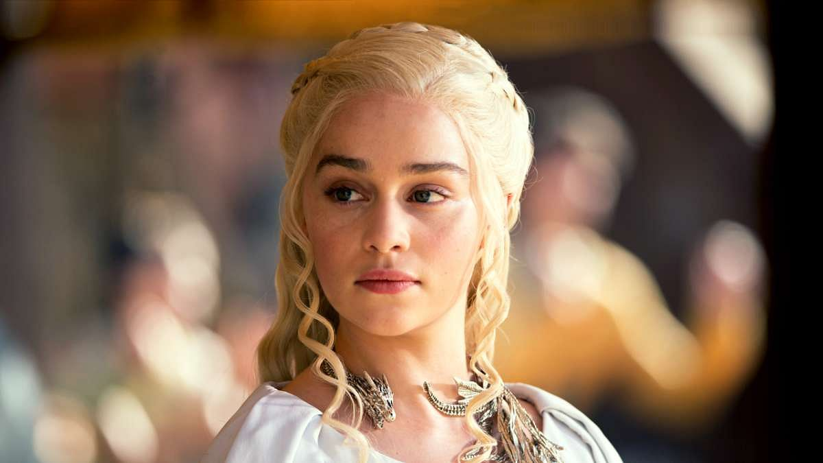 Emilia Clarke plays Daenerys Targaryen in HBO's <i>Game of Thrones</i>.