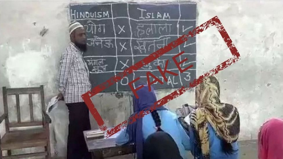 The morphed photo of the madrasa has been circulated over several social platforms.
