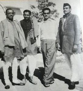 Atal Bihari Vajpayee with Deen Dayal Upadhyay and others. File photo.