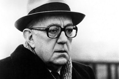 """Alec Guinness as George Smiley in a screen adaptation of """"Tinker, Tailor, Soldier, Spy"""""""