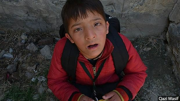 Raqib Mukhtar, a first-grade student at the Zaiba Aapa Institute of Inclusive Education in Bijbehara, Anantnag district.