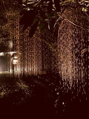 """Installation """"Rain"""" by artist Manav Gupta"""