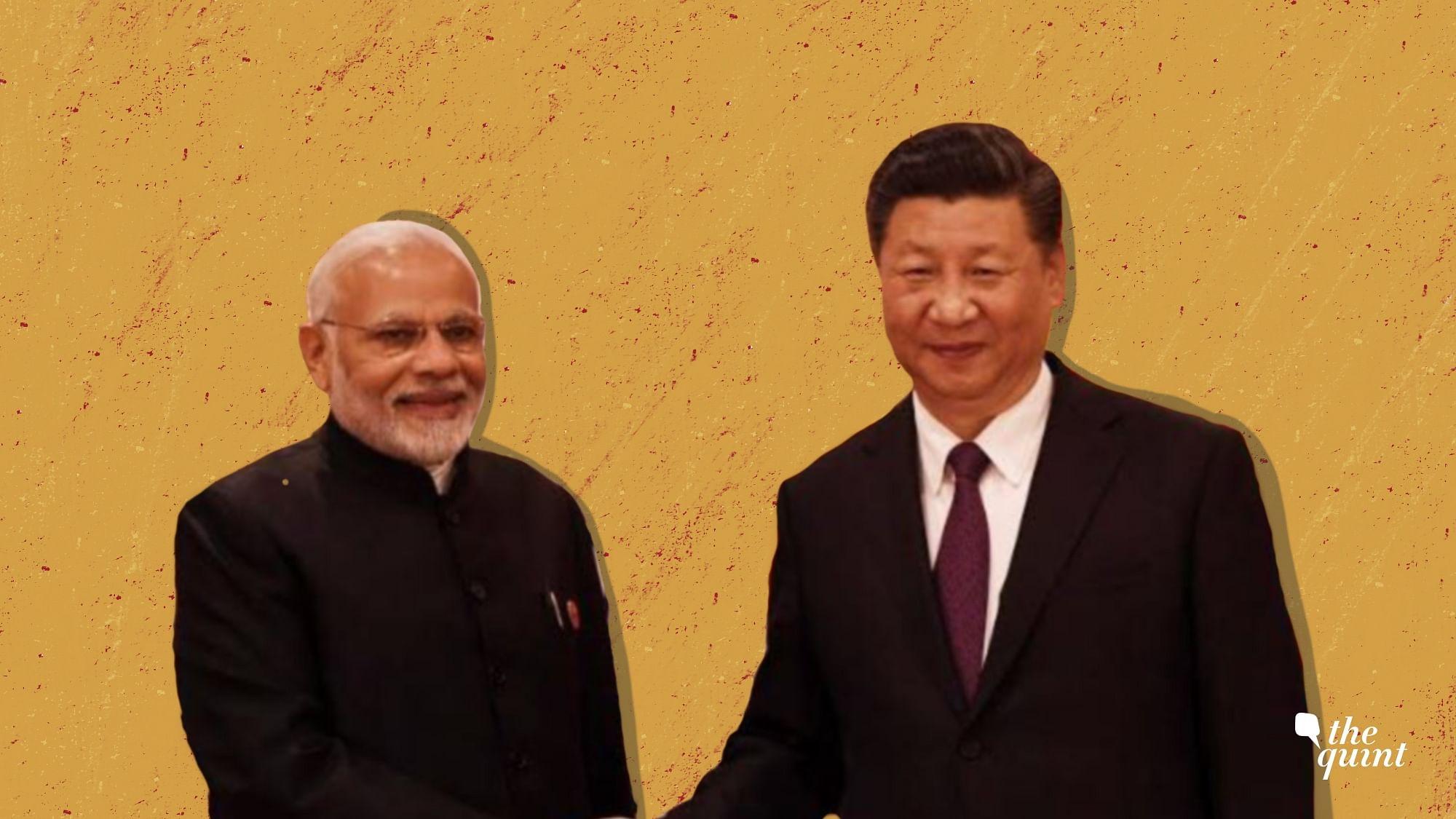 PM Narendra Modi and Chinese President Xi Jinping.