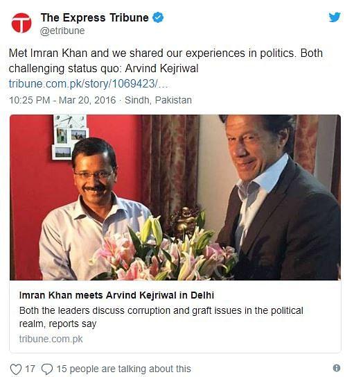 WebQoof: No, Kejriwal Did Not Visit Imran Khan to Congratulate Him