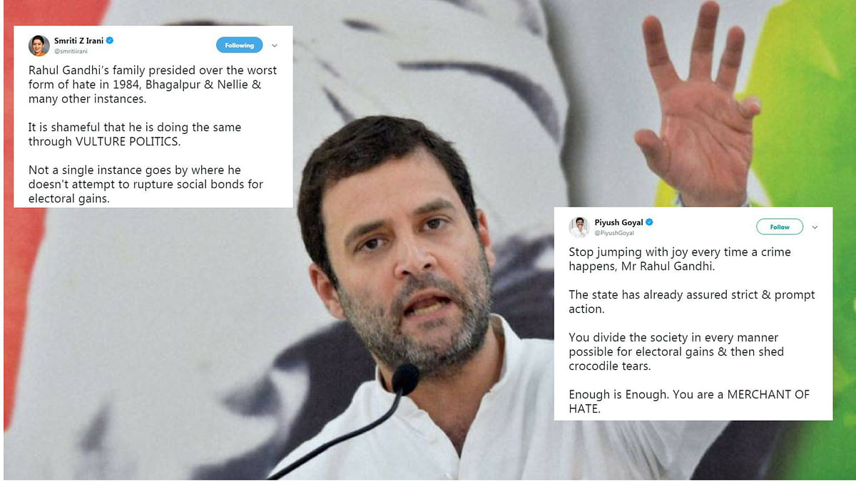 Rahul Says 'Alwar Lynching is Part of Modi's New India', BJP Fumes
