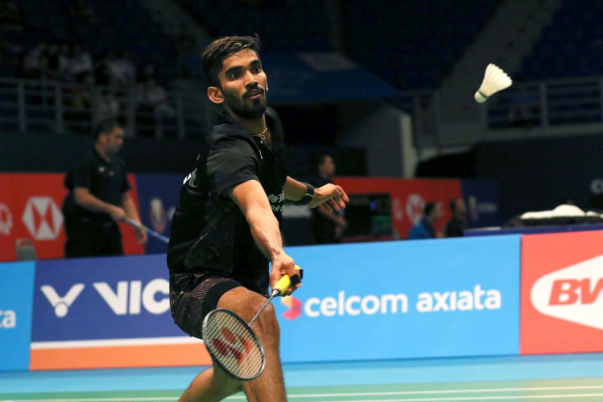 K. Srikanth will attempt to defend his Indonesia Open crown from Kento Momota.