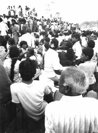 Displaced Tamils at a refugee camp