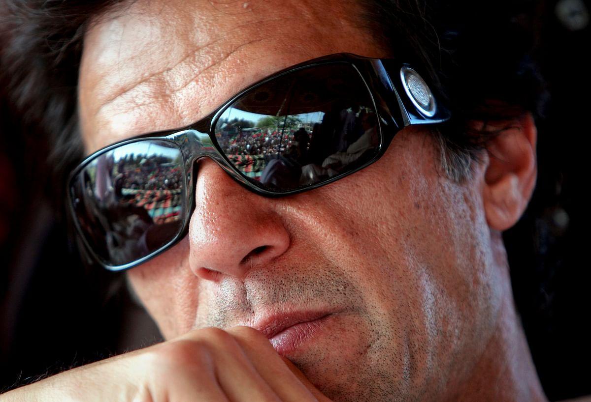 Pakistani cricket legend and now politician Imran Khan.