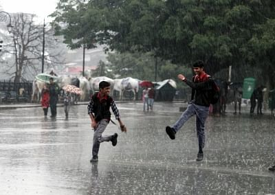 Himachal Pradesh capital Shimla on Tuesday recorded 118 mm rainfall within 24 hours in this month - the highest precipitation since 2005, a meteorological official said here. (Photo: IANS)