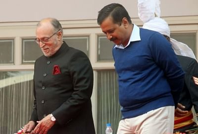 Delhi Chief Minister Arvind Kejriwal and Delhi Lt Governor Anil Baijal.(File Photo: IANS)