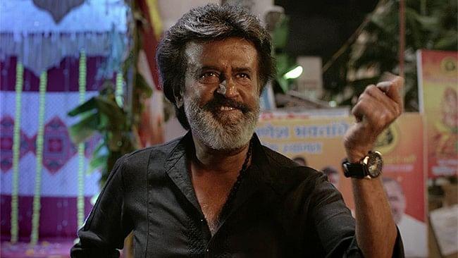 Rajinikanth in a still from the movie <i>Kaala</i>.&nbsp;