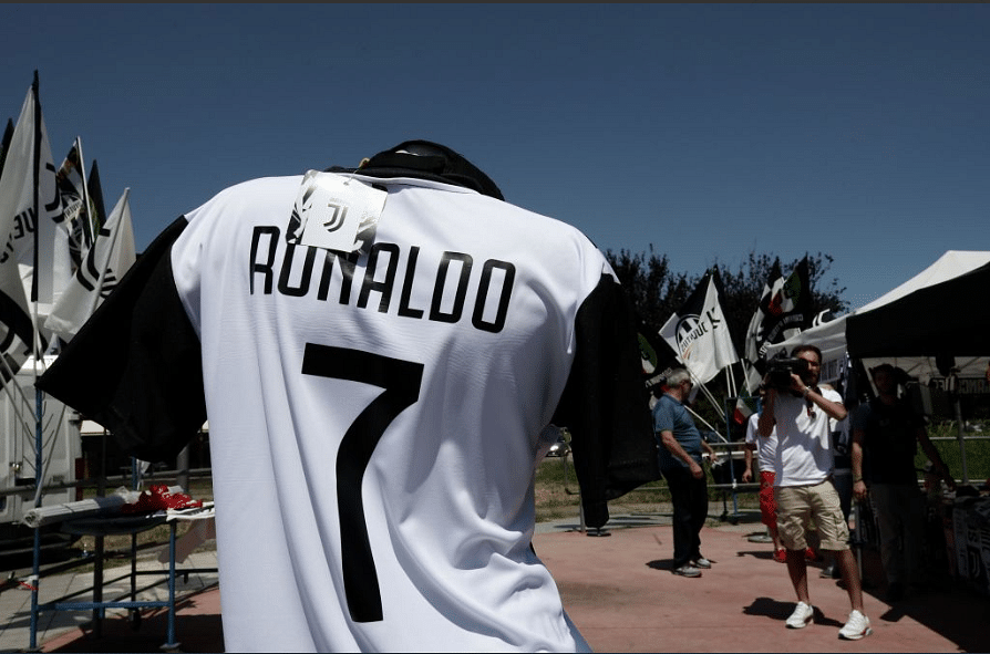Unofficial Ronaldo jerseys have made their appearance on Turin's streets