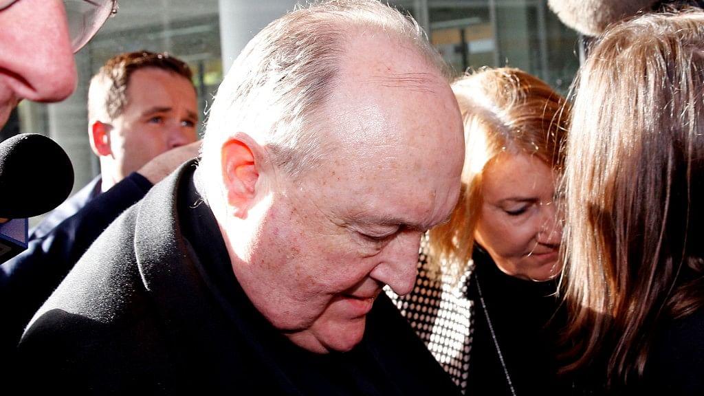 Australian Archbishop Philip Wilson arrives for sentencing at Newcastle Local Court in Newcastle, Australia.