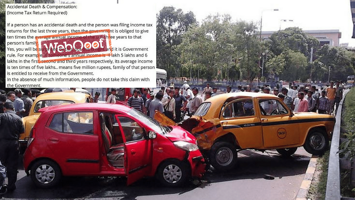 Govt Compensation in Motor Vehicle Accident Death? Nope! Fake News