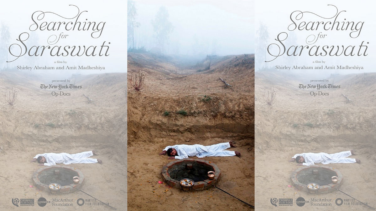 A poster of&nbsp;<i>Searching for Saraswati.</i>