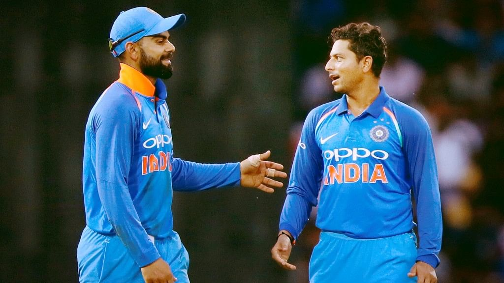 File photo of Virat Kohli and Kuldeep Yadav.