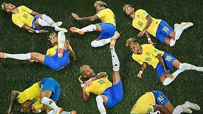 The Neymar Challenge has fans across the world rolling.