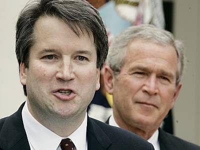 Kavanaugh with former US President George W Bush.
