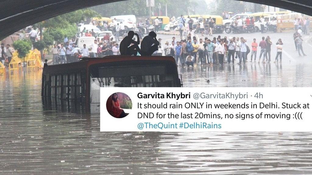While Rains Flood Delhi NCR, Memes Flood Twitter