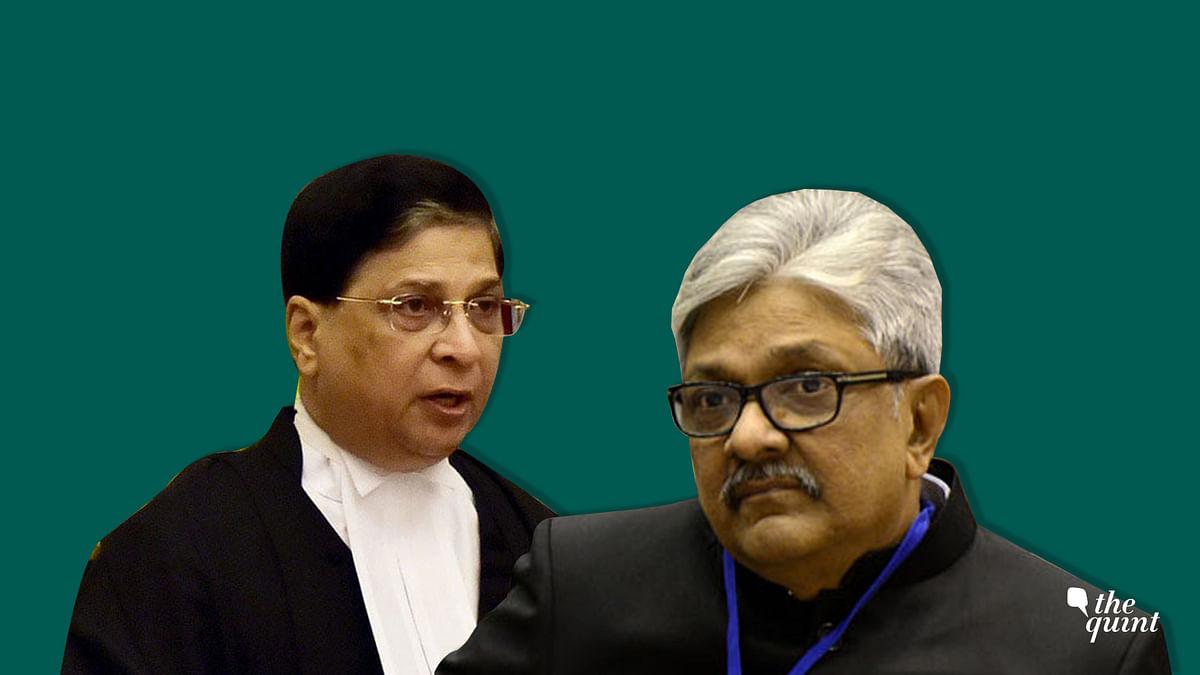 CJI Dipak Misra (L), who heads the Collegium, and Justice KM Joseph (R).